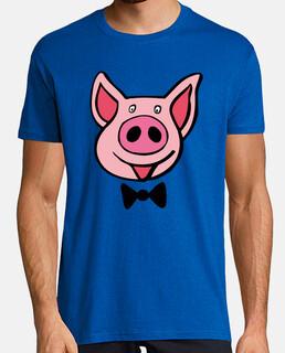maiale, t-shirt lattea savoia