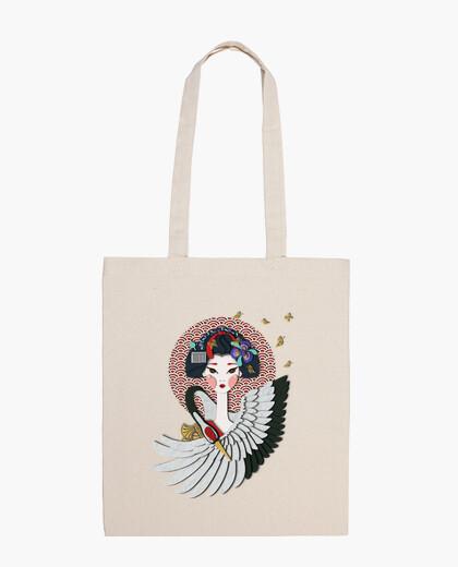 Sac maiko: apprentie geisha héron et papill
