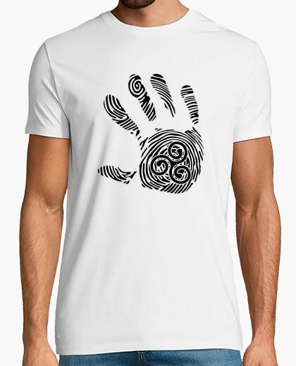 Tee-shirt main empreinte triskel breton