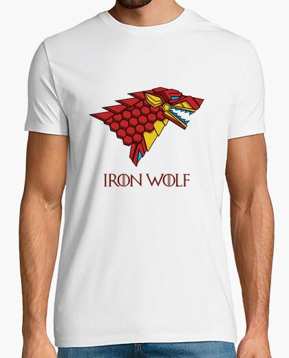 Tee-shirt maison stark - loup de fer