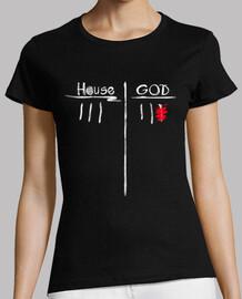 maison vs dieu - t-shirt femme
