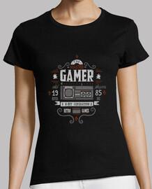 maîtriser  tee shirt  gamer- femme