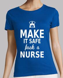 make it safe fuck a nurse