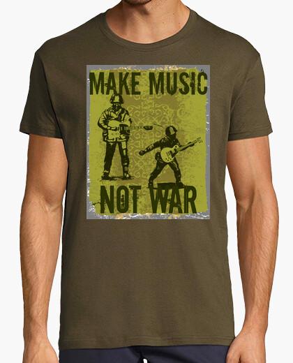 Camiseta Make music, not war
