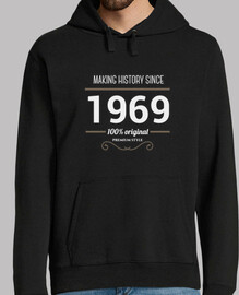 Making history 1969 white text