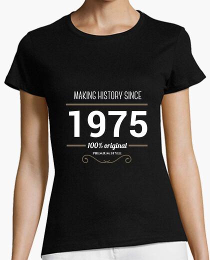 T-shirt making history 1975 testo bianco