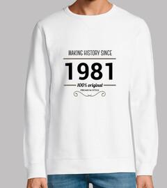 making history 1981 black text