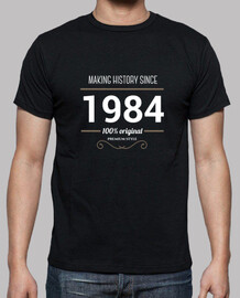 Making history 1984 white text