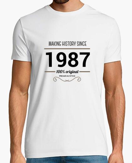 Camiseta Making history 1987 black text