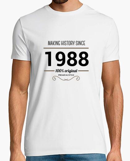 Camiseta Making history 1988 black text