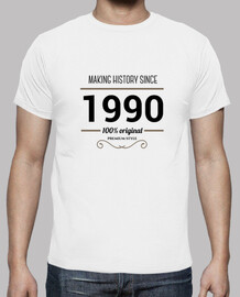 Making history 1990 black text