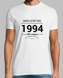 Making history 1994 black text