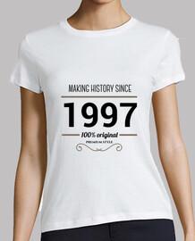 Making history 1997 black text