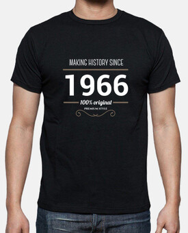Making history since 1966 white text