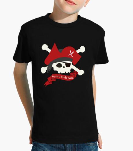 Abbigliamento bambino malapata pirata t-shirt bambino