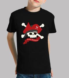 malapata pirata t-shirt bambino