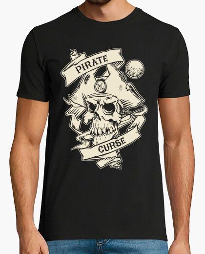 T-shirt maledizione dei pirati, osso colore