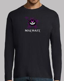 Malware logo contorno fuxia