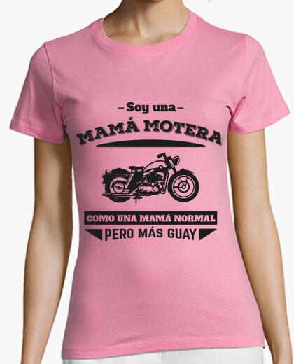 Camiseta Mamá Motera, Como Una Mamá Normal Pero Más Guay  (Fondo Claro)
