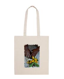 mama pacha, sac à bandoulière 100% coton, original mcharrell.