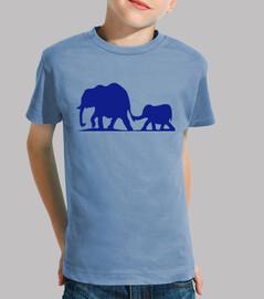 Mamá y Bebé elefantes