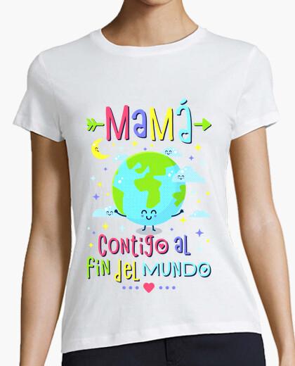 Tee-shirt maman avec toi au bout du monde
