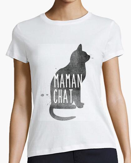 Tee-shirt Maman chat