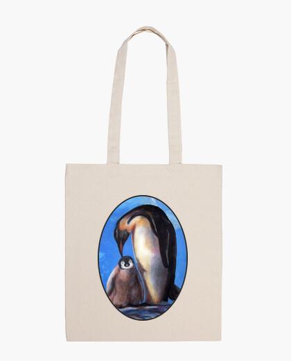 Maman et bébés pingouins sac