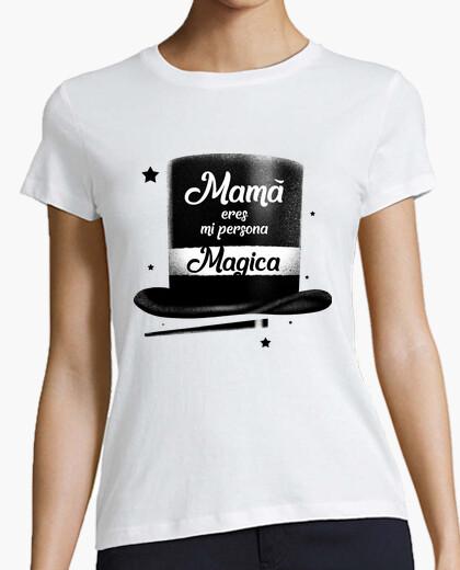 Tee-shirt maman tu es ma personne magique - femme, manches courtes, blanc, qualité premium