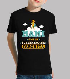 maman, tu es ma super-héroïne préférée (fond sombre)