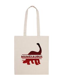 Mamasaurus bolsa de tela para madre dinosaurio
