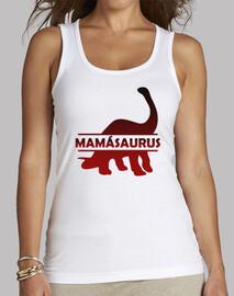 Mamasaurus camiseta tirantes gym para madre dinosaurio