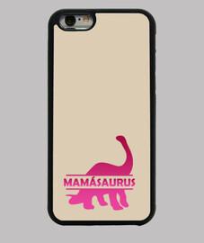 Mamásaurus rosa funda iphone 6 o 6s para mama dinosaurio rosa