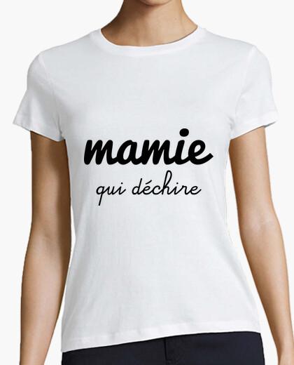 Tee-shirt Mamie qui déchire , cadeau grand-mère