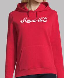 mamma mola (logo cocacola) sfondo rosso