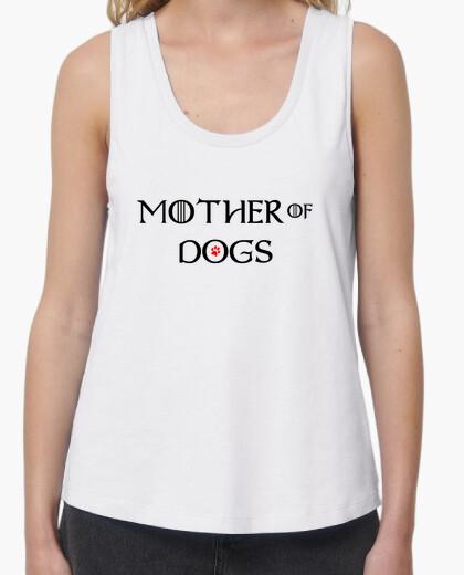 T-shirt mamma of dogs bretelle