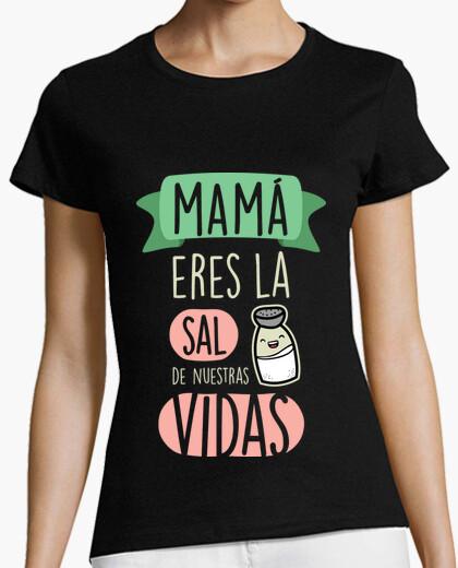 T-shirt mamma tu sei il sale della nostra vita (sfondo scuro)