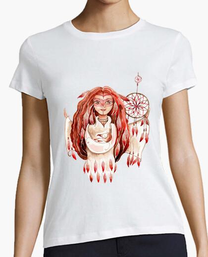 T-shirt mamma uccello donna a maniche taglio