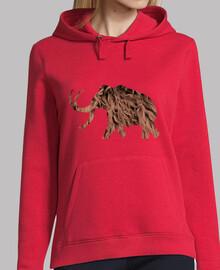 mammoth - ragazza con cappuccio
