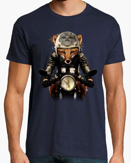 Man - fox biker t-shirt