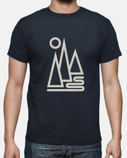 man - geometric mountains