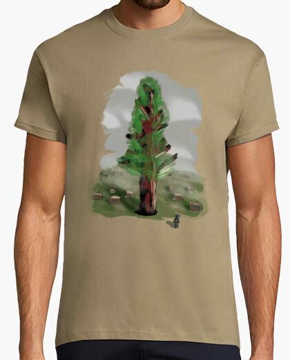 Tee-shirt man forêt de peinture