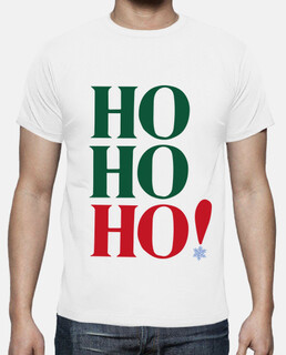 man, short sleeve, white, extra quality ho ho ho