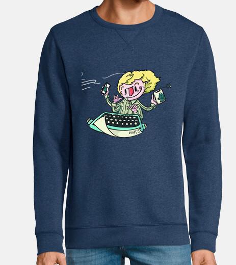 Man, sweatshirt, heather denim