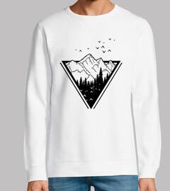 Man, sweatshirt, white