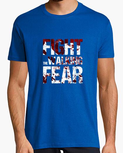 Man t-shirt fight the walking fear