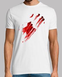 Mancha de Sangre dejada por una Mano