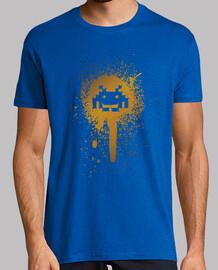 mancha espacio - hombre camiseta