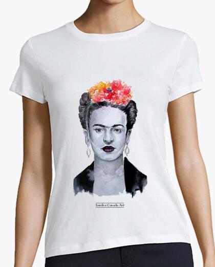 Tee-shirt manches courtes femmes frida kahlo