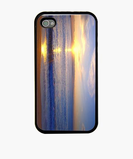 Coque iPhone manchon bleu crépuscule